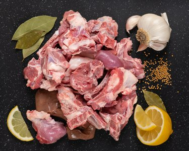 Raw Goat Meat
