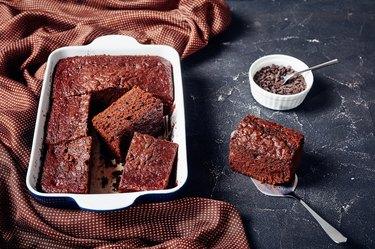 delicious freshly baked homemade chocolate sponge cake