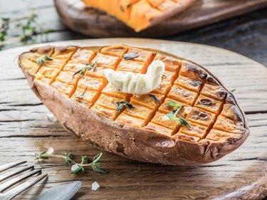 Baked batata.