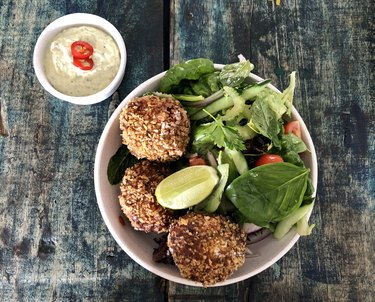 Fish and Crab Cakes with Herb Mayonnaise