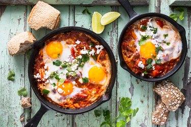 Shakshuka, Fried Egg in Tomato Sauce for healthy shakshuka recipes