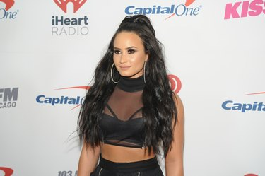 Demi Lovato at 103.5 KISS FM's Jingle Ball 2017 - PRESS ROOM