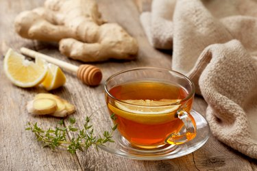 best tea for a cold includes ginger tea