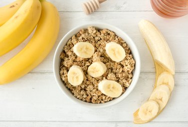 Muesli with Granola and Fresh Bananas