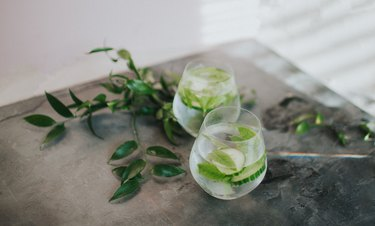Refreshing glass of water or Gin and Tonic
