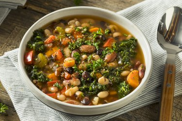 Hot Organic Homemade 10 Bean Soup