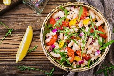 White bean cannellini salad omega 3 vegan salad