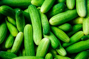 Full Frame Shot Of Cucumbers For Sale