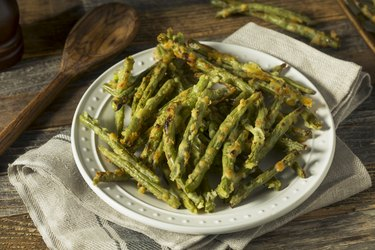Homemade Baked Parmesan Green Bean Fries
