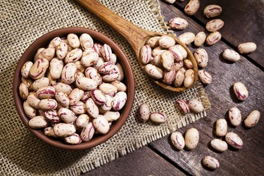 Pinto beans in a bowl