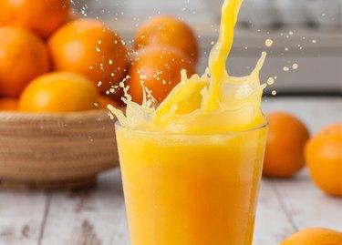 Orange juice splash juice for upset stomach