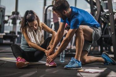 Sports injury in a gym!