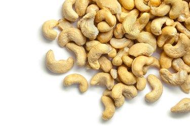 Cashew nut isolated on white