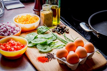 Keto meal plan foods vegetables and eggs