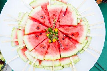 juicy pieces of delicious watermelon