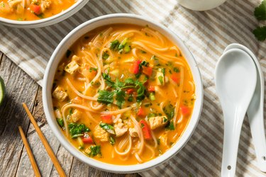 Homemade Thai Chicken Coconut Curry Pho