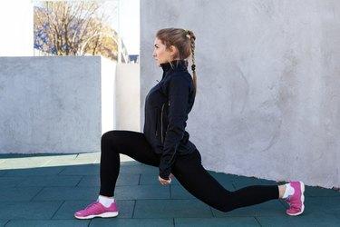 fitness woman doing squat