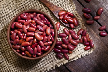 Kidney beans in a bowl