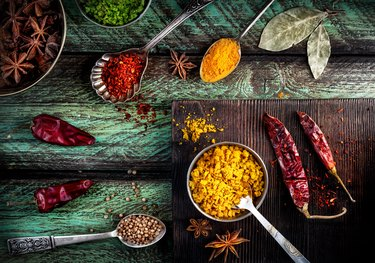 A group of Indian spices that are popular in Ayurveda-based eating