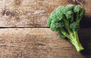 Directly Above Shot Of Broccoli On Table
