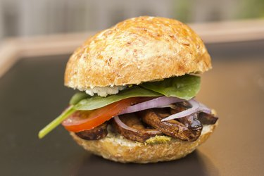 Grilled vegan pesto burgers plant based high protein meals