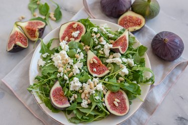 Healthy Salad with figs