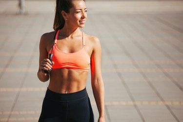 Fit young woman exercising outdoors