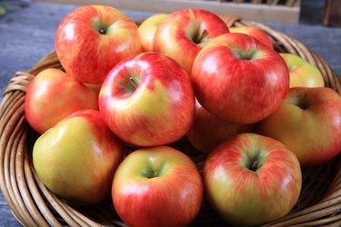 Fresh organic honey crisp apples