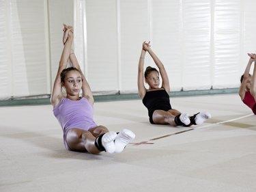 gymnastic, training, abdominals,