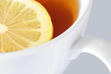 China Cup Pekoe Brew, Floating Lemon Rind