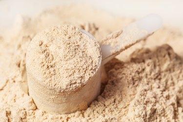 heap of protein powder