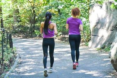 Friends taking a Jog