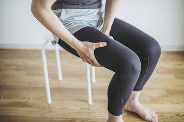 Women's thighs pain
