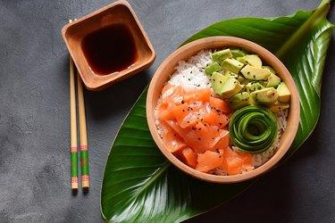 Hawaiian Salmon Poke Bowl