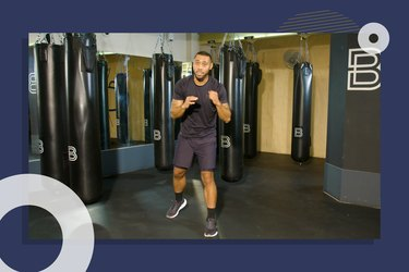 photo of BoxUnion coach Justin Blackwell doing lower-body boxing workout