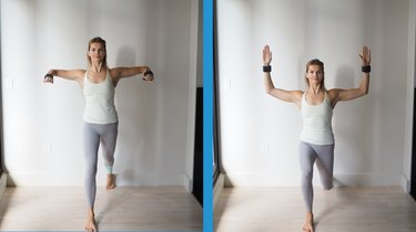 Move 2: Lunge With Arm Raise