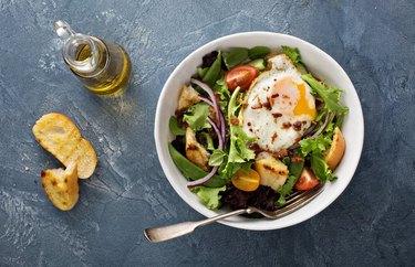 Vegetarian Breakfast Salad with Eggs