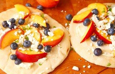 Ricotta and Peach Flatbread Pizza Healthy Pizza Recipes