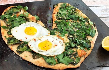 Heart-Shaped Florentine Pizza With Eggs Healthy Pizza Recipes