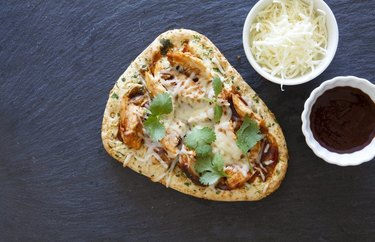 Thai-Inspired Chicken Thick-Crust Pizza Healthy Pizza Recipes