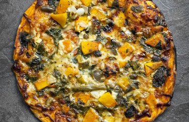 Spicy Squash, Greens and Turkey Sausage Pizza Healthy Pizza Toppings