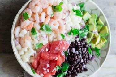 Mexican Jicama Shrimp Salad