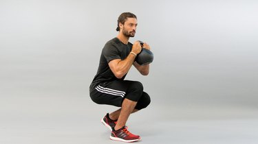 Lower-Body Move 2: Goblet Shooter Squat