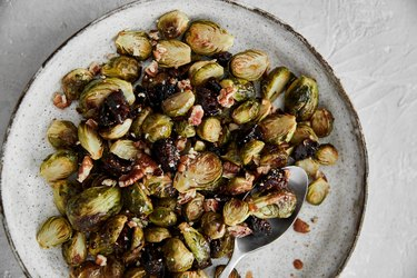 Roasted Brussels Sprouts with California Fig Compote and Pecans