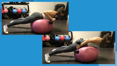 4. Stability Ball Triceps Extension