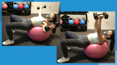 2. Stability Ball Chest Fly