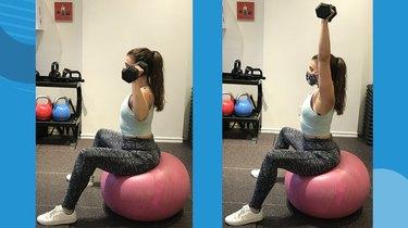 1. Stability Ball Shoulder Press