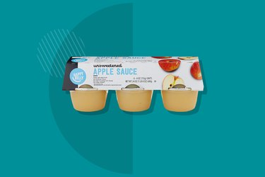 A photo of Happy Belly Unsweetened Applesauce Cups