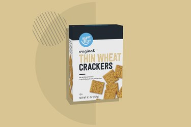 A photo of Happy Belly Wheat Thin Crackers
