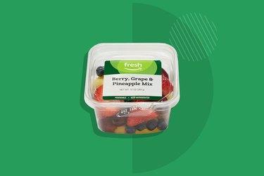A photo of AmazonFresh Brand Berry, Grape and Pineapple Mix